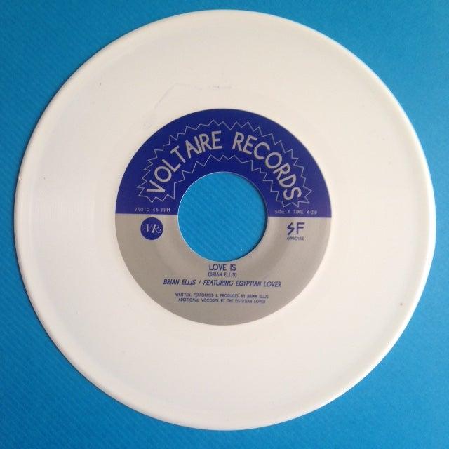 "Image of Brian Ellis - Love Is / Electric Body - 7"" White Vinyl Reissue"