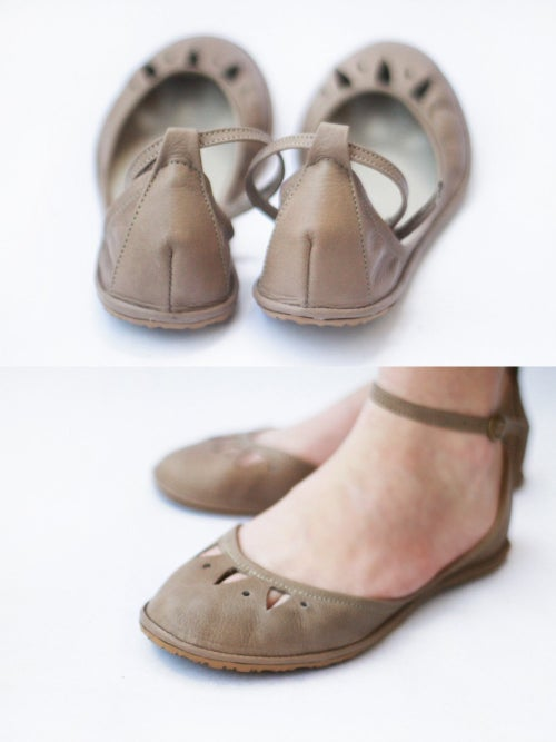 Image of Two piece flats - Kali - Handmade Leather ballet flats