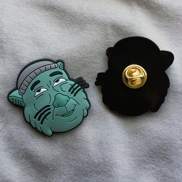 Smash Cat Lapel Pin - Sick Animation Shop