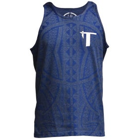 "Image of ""Roots"" Tank Top Heather Blue/BLUE"