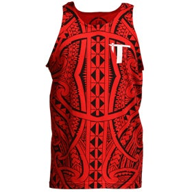 "Image of ""Roots"" Tank Top Red/Black"