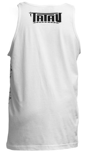 """Image of """"Roots"""" Tank Top White/Gray"""