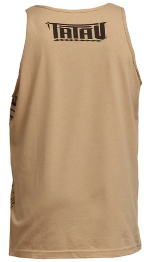 "Image of ""Roots"" Tank Top Tan/Brown"
