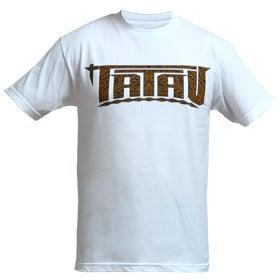 """Image of Tatau Mens """"Whale Tail"""" Tee White/Brown"""