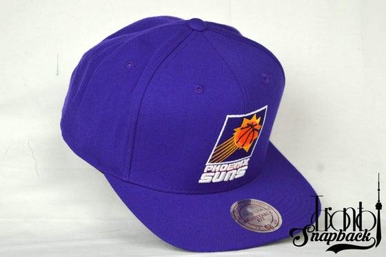 Image of PHOENIX SUNS PURPLE MITCHELL & NESS SNAPBACK CAP