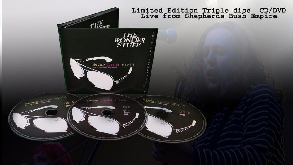 "Image of The Wonder Stuff ""Never Loved Elvis Live"" Limited Edition CD/DVD"