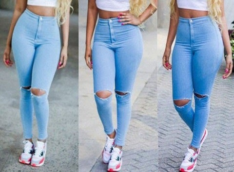 Image of FASHION SLIM BLUE JEANS