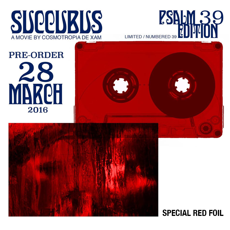 Image of [LIMITED 39] SUCCUBUS SOUNDTRACK CASSETTE • PSALM 39 FOIL EDITION + DIGITAL