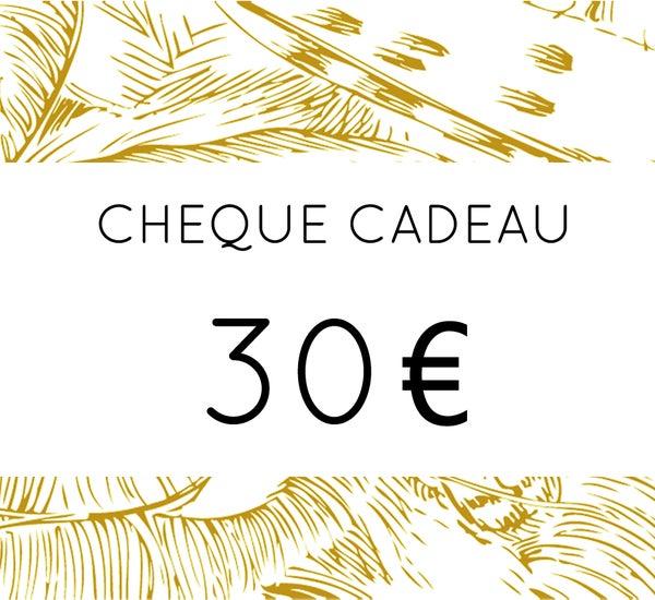 Image of Chèque Cadeau 30 €