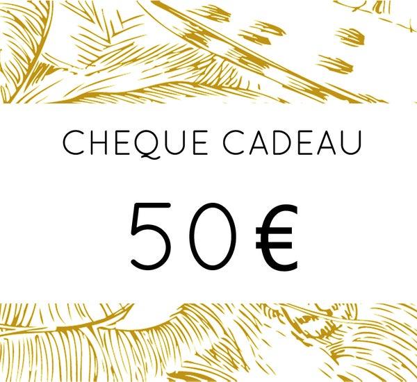 Image of Chèque Cadeau 50 €