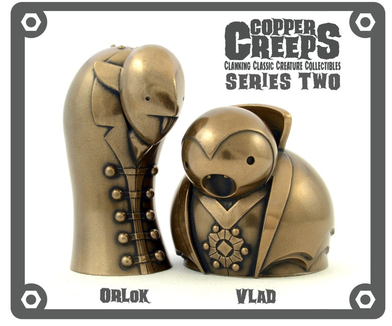 "Image of Copper Creeps Series 2 ""Metal"" Open editions"