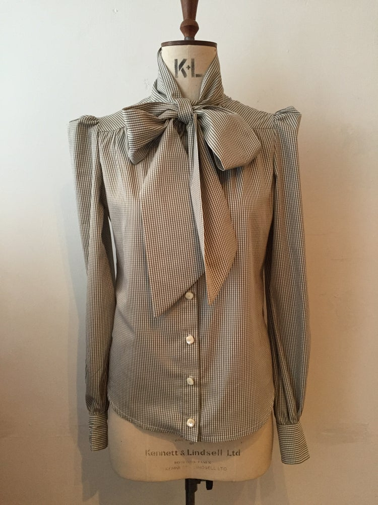 Image of Eliza tie neck shirt