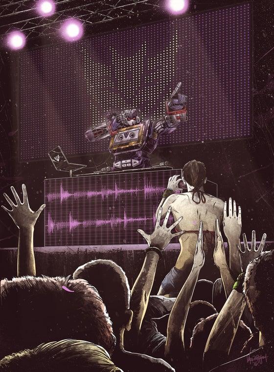 "Image of ""DJ Soundwave"" / ""DJ Blaster"" - Inspired by Transformers"