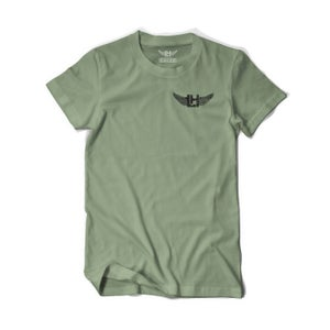 Image of DIstressed LH Wings Tee (Army/Black)