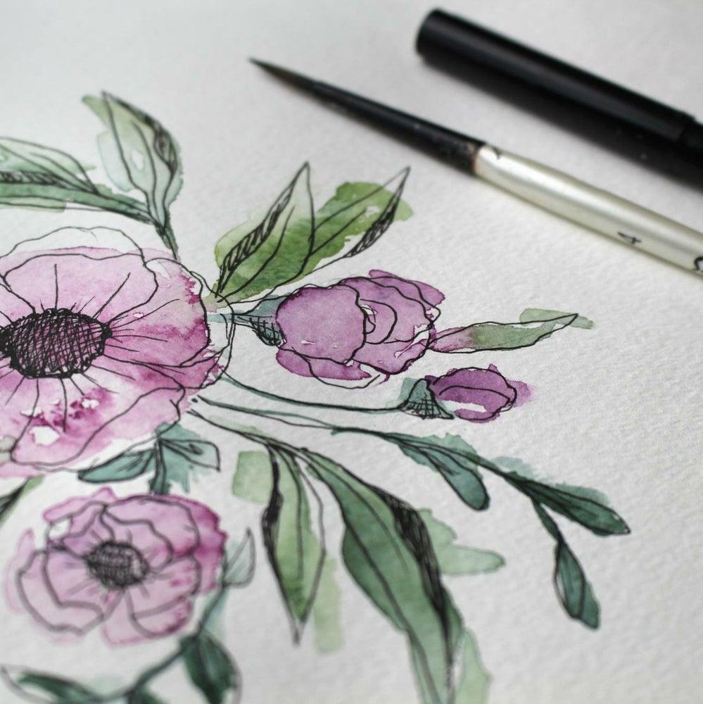 Image of Botanical Illustration & Watercolor<br>April 23rd<br>10AM-12:30PM