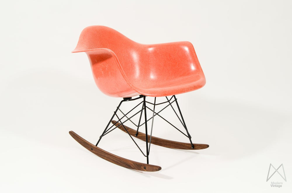 Image of Eames RAR Herman Miller Red Orange