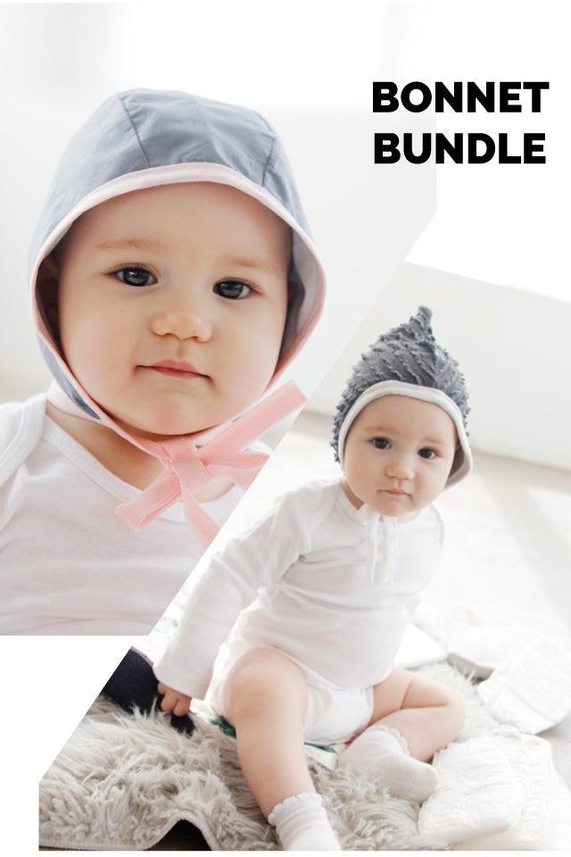 Image of Baby Bonnet Bundle- Classic + Pixie