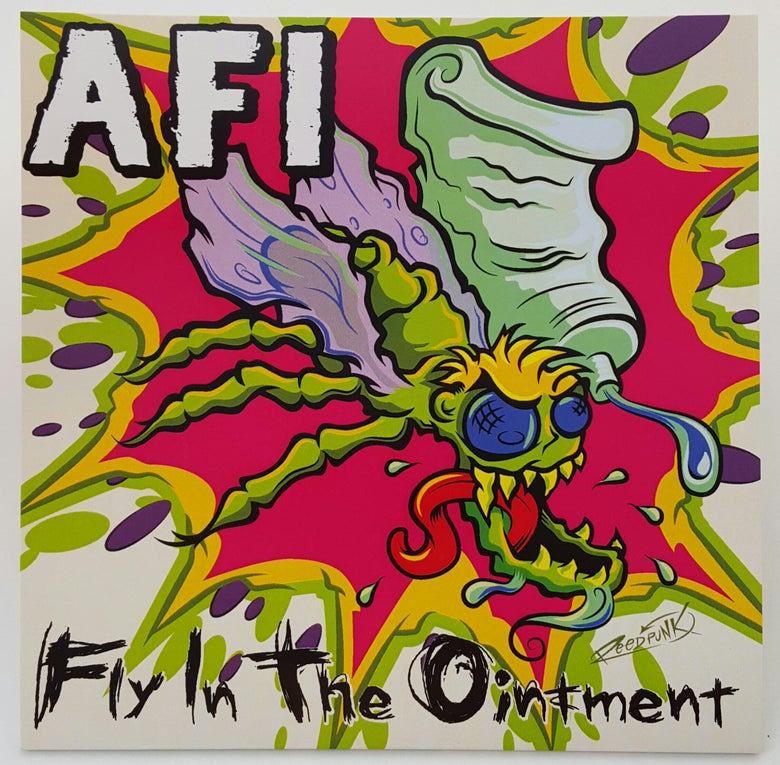 "Image of WEDGE RECORDS #1  AFI ""Fly in the Ointment"" 7"" Splatter Vinyl Edition!"