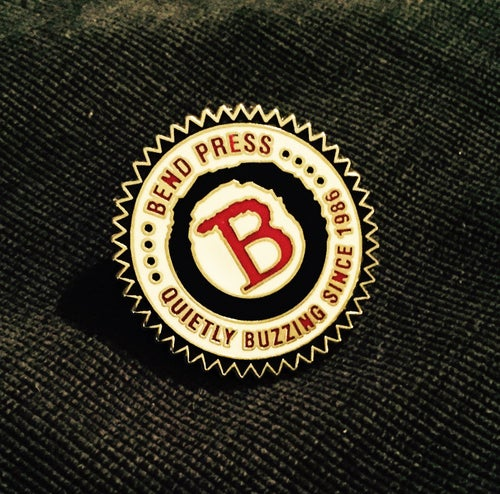 Image of BEND B ENAMEL PIN