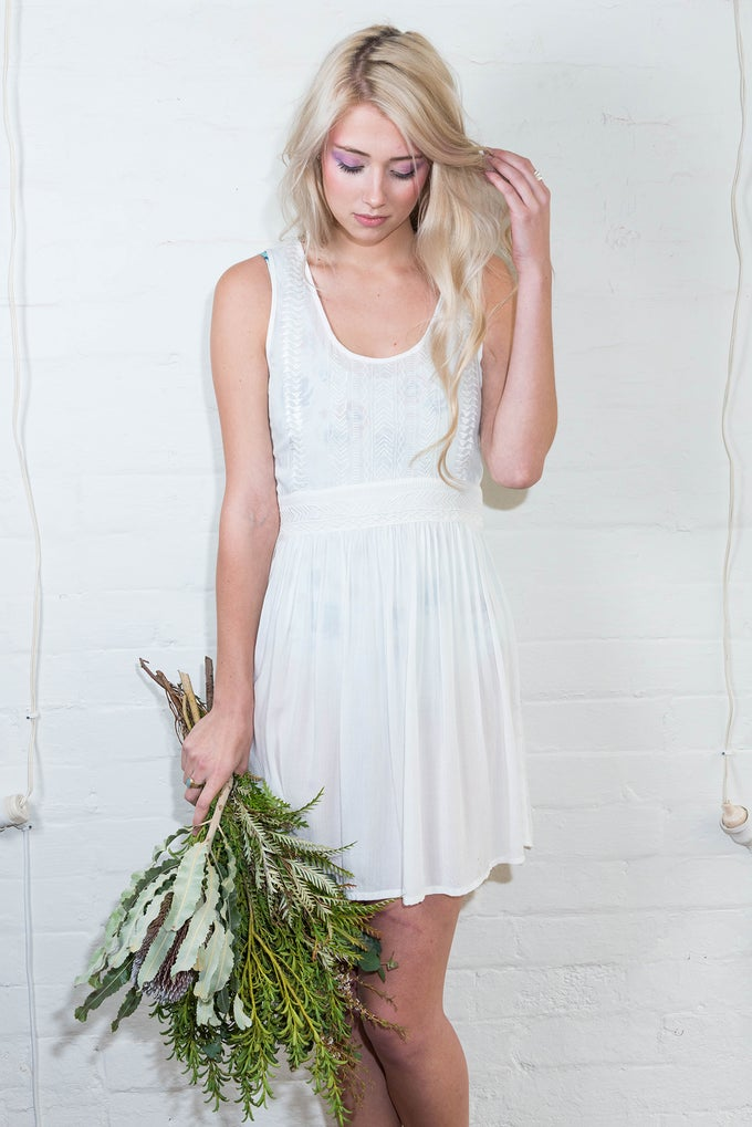 Image of APRIL DRESS - WHITE