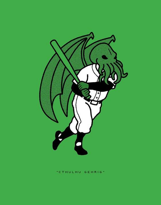 "Image of RRC #005: ""Cthulhu Gehrig"""