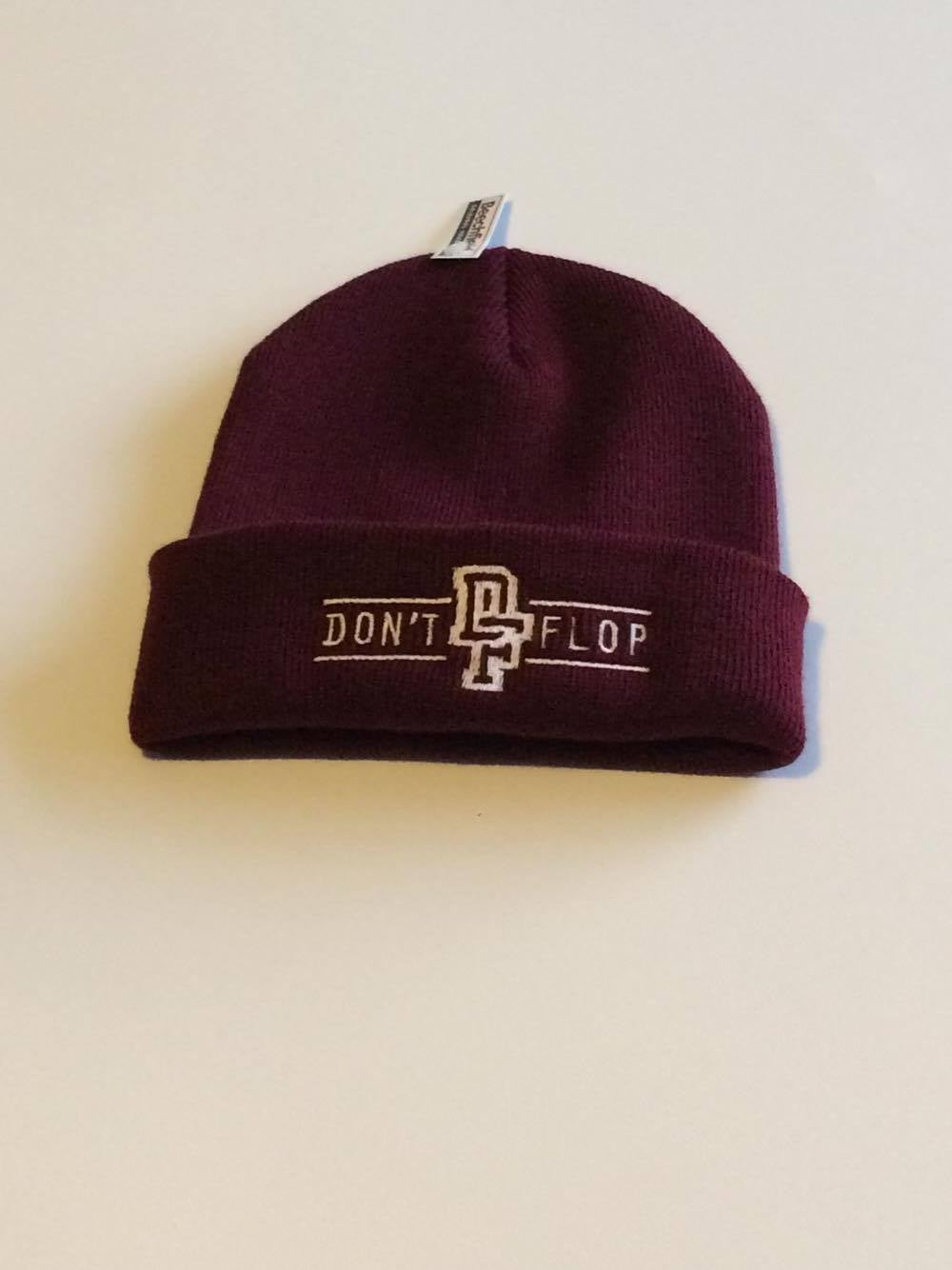 Image of Original Don't Flop Beanie | Burgundy