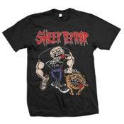 "Image of SHEER TERROR ""Bulldog Walker"" Black T-Shirt"