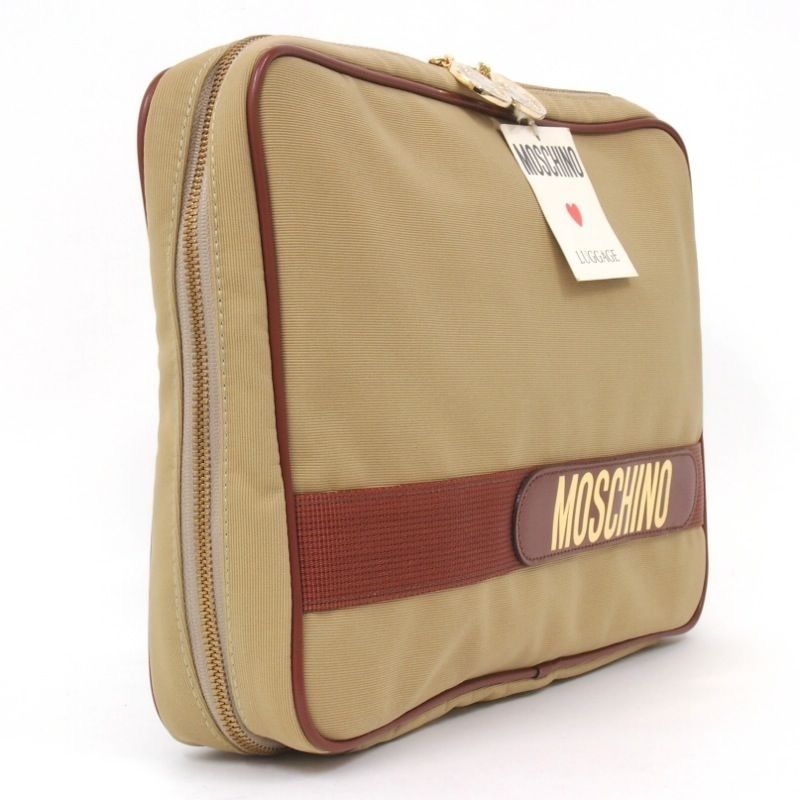Image of Moschino Bag - Vintage Oversized Organizer Travel Bag - New With Tags