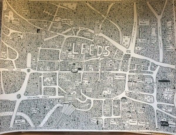 Image of Leeds Doodle Map