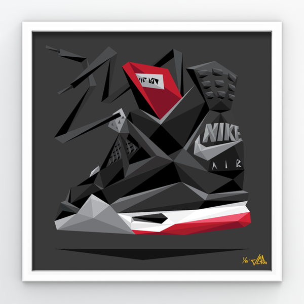 "Image of JCRo ""Bred 4"" Print in 275 triangles"