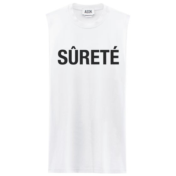 Image of SECURITY Sleeveless T-shirt - White