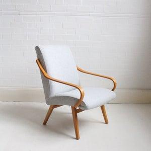 Image of Midcentury armchair in Grey wool