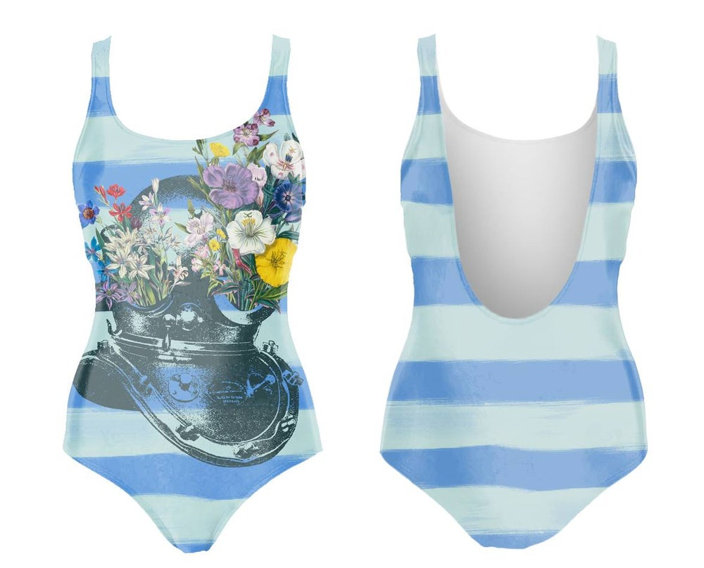 Image of Flower Diver maillot de bain une-pièce