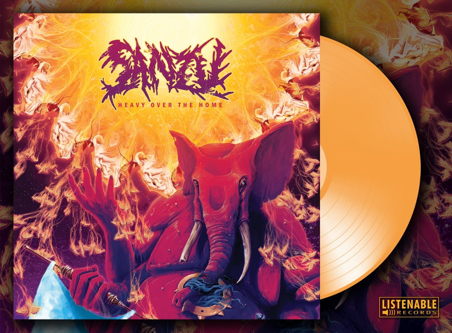 Image of HEAVY OVER THE HOME - *VERY Limited* Orange Vinyl *SIGNED*
