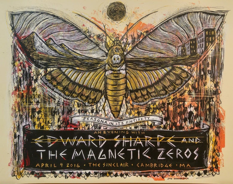 Image of Edward Sharpe & The Magnetic Zeros Moth Poster