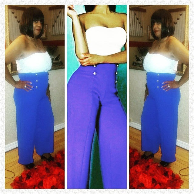 Image of Strapless Two Toned Romper
