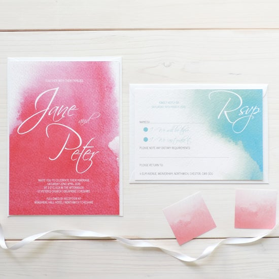 Image of Love Haze Bespoke Wedding Invitation and RSVP