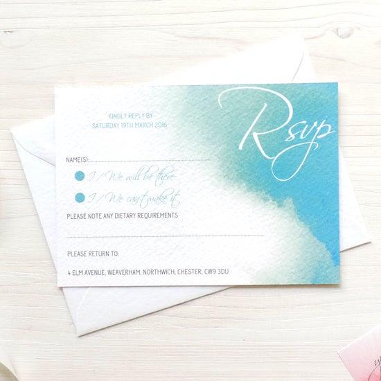 Image of Love Haze Bespoke Wedding Invitation and RSVP