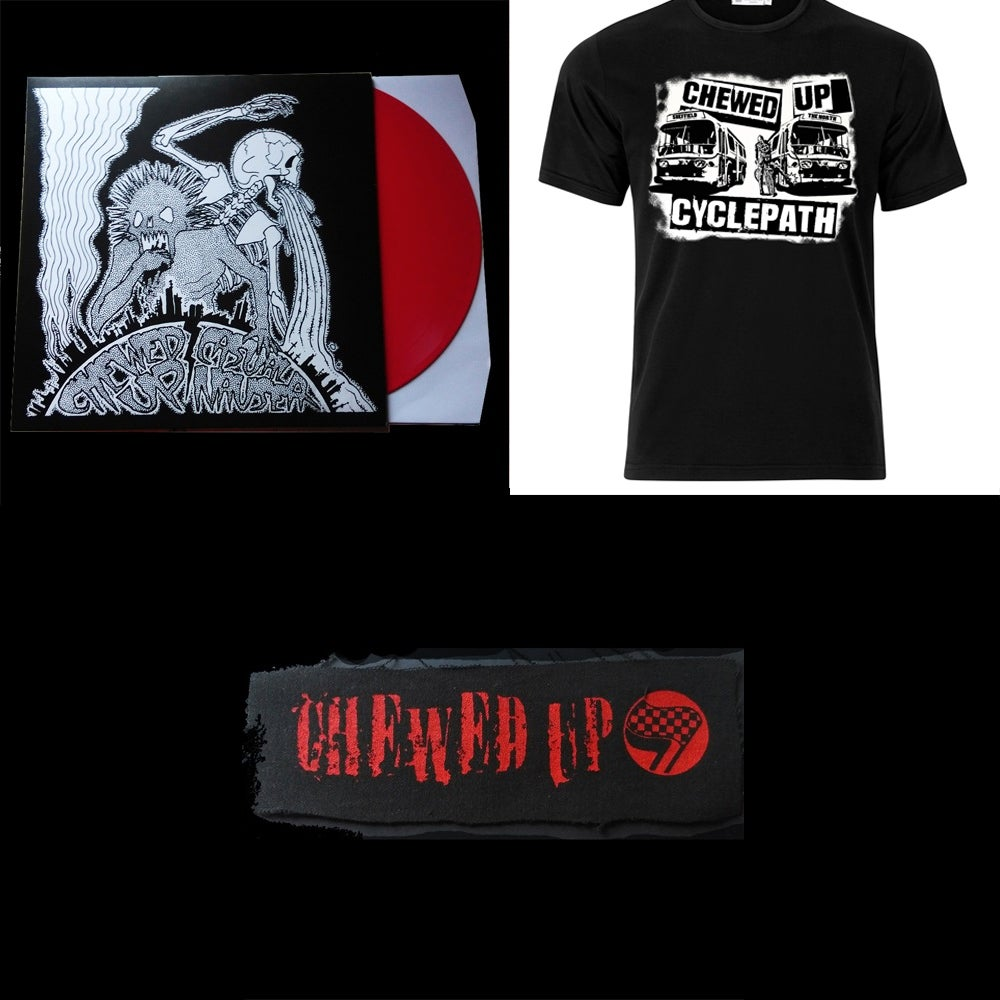 Image of Everything (T-Shirt/Split with Casual Nausea Vinyl/Patch)