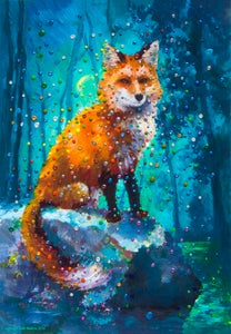 Image of Forest Fox Energy Painting