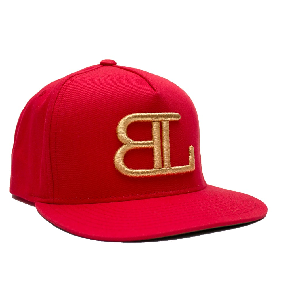 Image of GOLD BL logo in Red