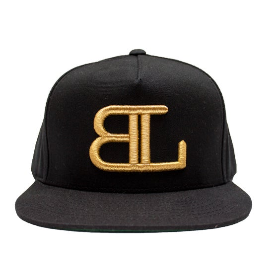 Image of GOLD BL logo in BLACK