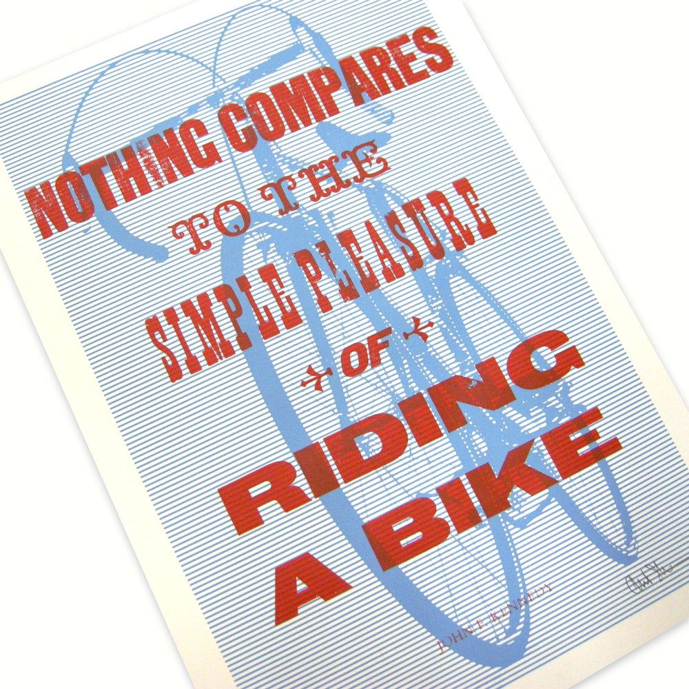 Image of 'Nothing Compares' hand-set wood-type print by Dynamoworks