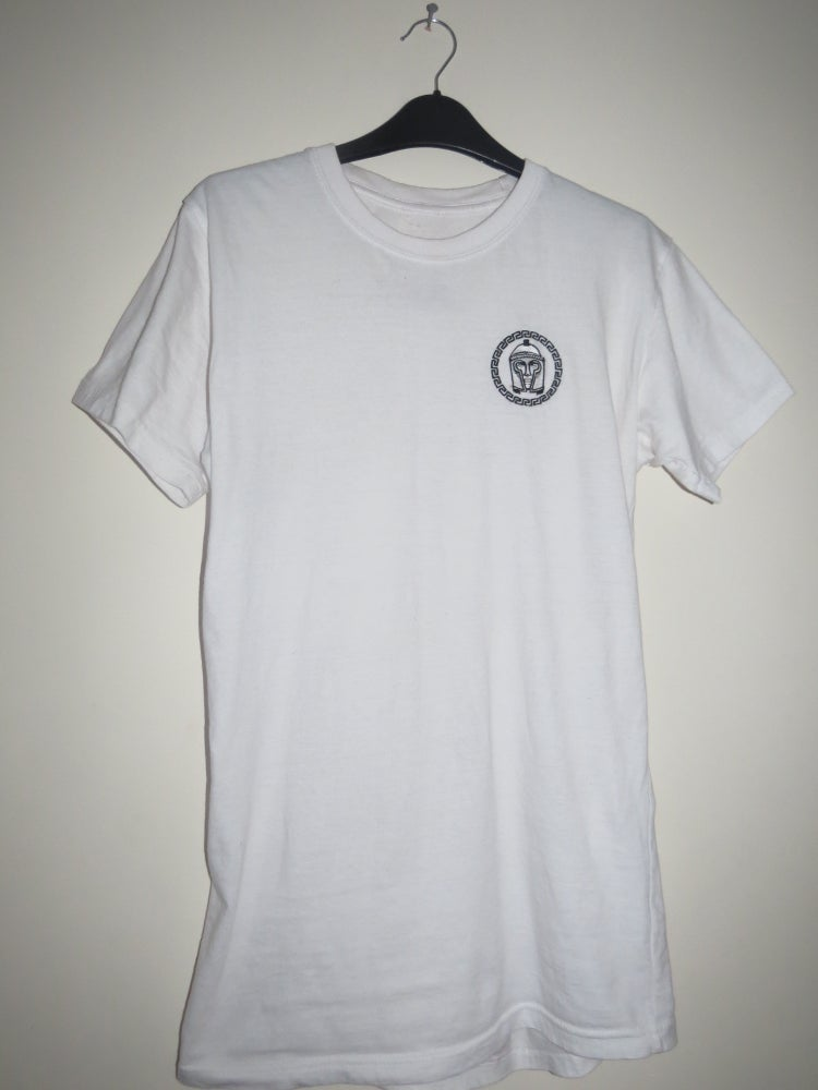 Image of Ares White Signature Longline T-shirt