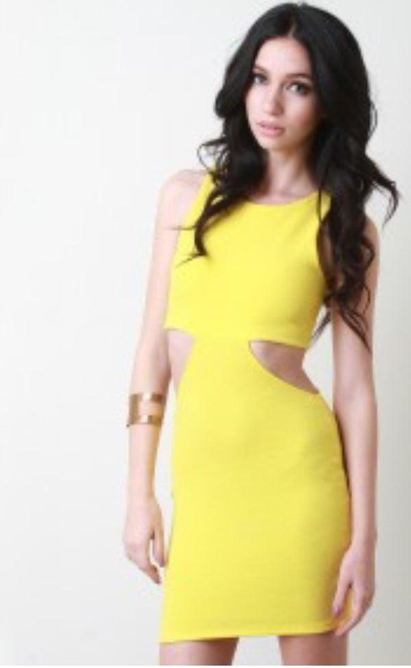 Image of Cut-Out Mini Dress