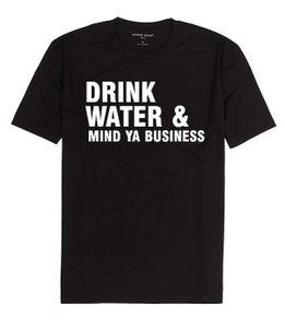 Image of Drink water & mind ya business (Men's) Black t shirt
