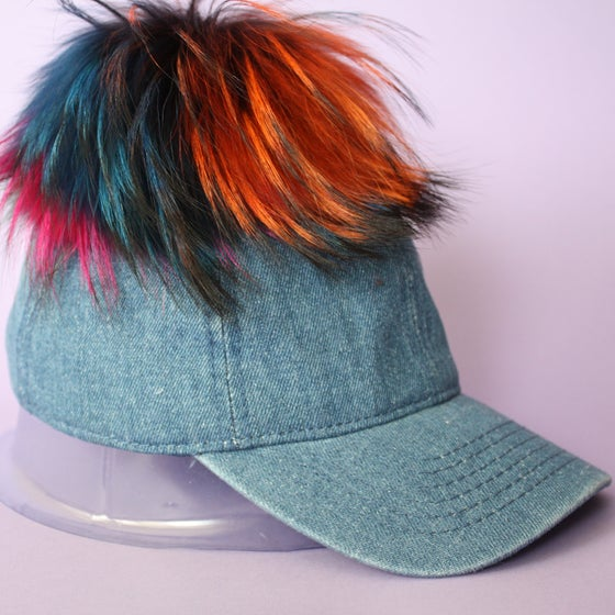 Image of Denim Single Pom *Multicolour Mix*
