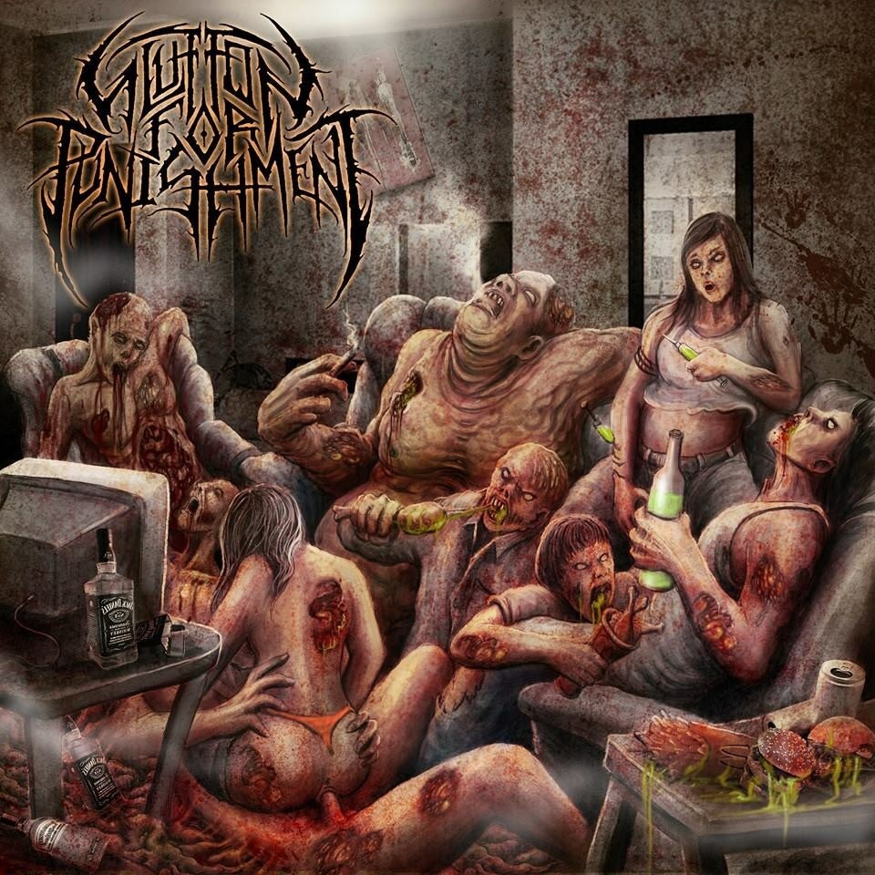 """Image of Glutton for Punishment """"Lying in Torment"""""""