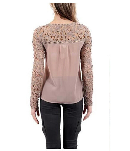 Image of Sexy lace long sleeve chiffon unlined upper garment