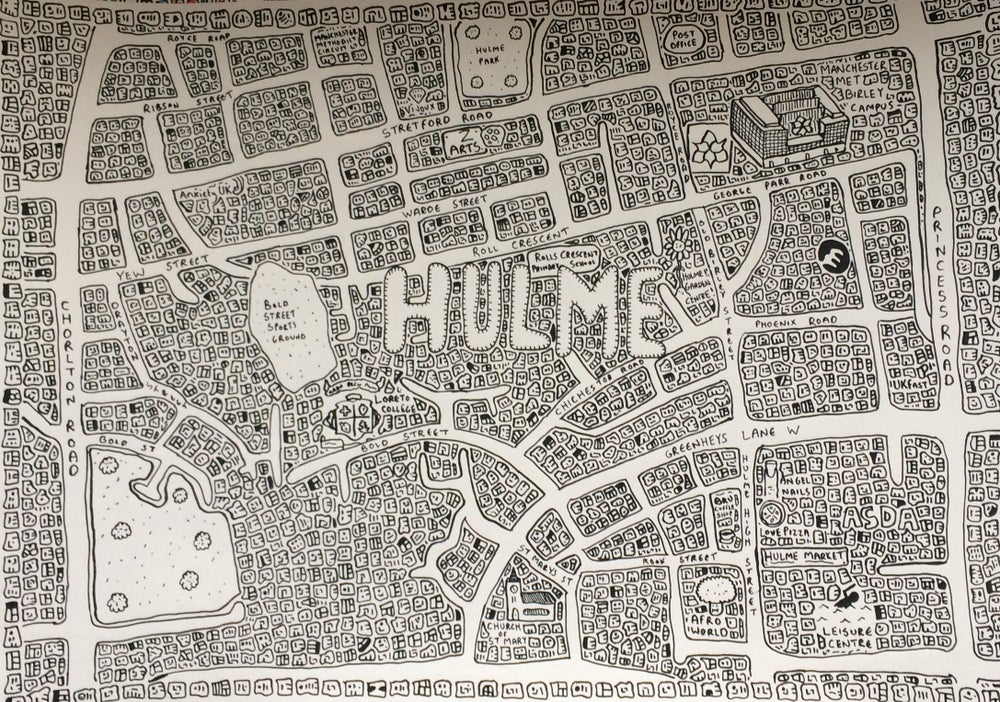 Image of Hulme Doodle Map